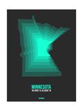 Minnesota Radiant Map 4 Prints by  NaxArt