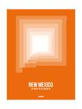 New Mexico Radiant Map 3 Poster by  NaxArt