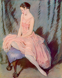 The Pink Dress Giclee Print by Lewis Baumer