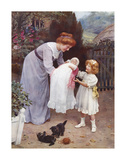 The New Baby Premium Giclee Print by Arthur Elsley