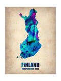 Finland Watercolor Poster Posters by  NaxArt