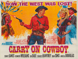 Carry on Cowboy Giclee Print by  The Vintage Collection