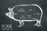 Butcher's Guide IV Giclee Print by  The Vintage Collection