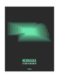 Nebraska Radiant Map 4 Poster by  NaxArt