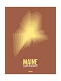 Maine Radiant Map 3 Prints by  NaxArt