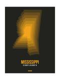 Mississippi Radiant Map 5 Posters by  NaxArt