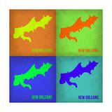 New Orleans Pop Art Map 1 Poster by  NaxArt