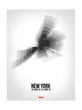 New York Radiant Map 4 Posters by  NaxArt
