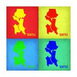 Seattle Pop Art Map 1 Posters by  NaxArt