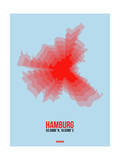 Hamburg Radiant Map 1 Posters by  NaxArt
