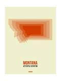Montana Radiant Map 3 Prints by  NaxArt