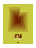 Utah Radiant Map 3 Prints by  NaxArt