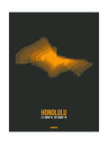 Honolulu Radiant Map 5 Print by  NaxArt