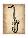 Vintage Saxophone Prints by  NaxArt