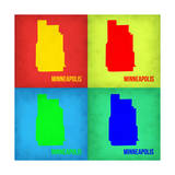 Minneapolis Pop Art Map 1 Prints by  NaxArt