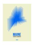 Maine Radiant Map 1 Prints by  NaxArt