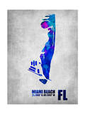 Miami Beach Florida Prints by  NaxArt
