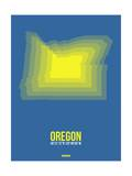 Oregon Radiant Map 1 Prints by  NaxArt