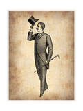 Vintage Victorian Man Posters by  NaxArt
