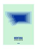 Montana Radiant Map 2 Print by  NaxArt