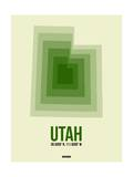 Utah Radiant Map 4 Posters by  NaxArt