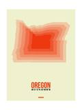 Oregon Radiant Map 2 Posters by  NaxArt