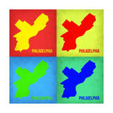 Philadelphia Pop Art Map 1 Posters by  NaxArt