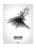 Houston Radiant Map 4 Prints by  NaxArt