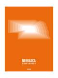Nebraska Radiant Map 2 Posters by  NaxArt