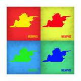 Memphis Pop Art Map 1 Prints by  NaxArt