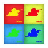 Memphis Pop Art Map 1 Prints by  NaxArt