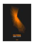 California Radiant Map 2 Prints by  NaxArt