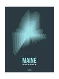 Maine Radiant Map 4 Posters by  NaxArt