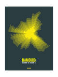 Hamburg Radiant Map 3 Prints by  NaxArt