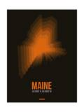 Maine Radiant Map 5 Posters by  NaxArt