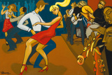 Clubbing Giclee Print by Marsha Hammel