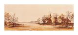 Misty Dawn Premium Giclee Print by Ron Folland