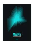 Maine Radiant Map 6 Prints by  NaxArt