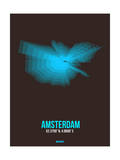 Amsterdam Radiant Map 4 Posters by  NaxArt