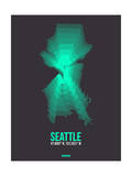 Seattle Radiant Map 1 Print by  NaxArt