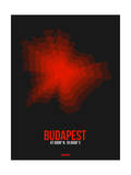 Budapest Radiant Map 3 Posters by  NaxArt