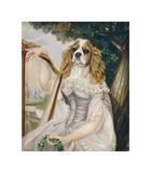 Demoiselle a la Lyre Giclee-tryk i høj kvalitet af Thierry Poncelet