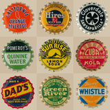 Pop Bottletops I Giclee Print by  The Vintage Collection