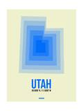 Utah Radiant Map 1 Prints by  NaxArt
