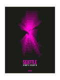 Seattle Radiant Map 4 Prints by  NaxArt