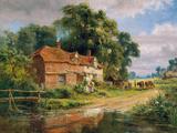 Una vieja granja de Surrey Lámina giclée por Robert Gallon