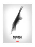 Manhattan Radiant Map 5 Print by  NaxArt