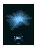 Prague Radiant Map 2 Prints by  NaxArt