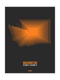 Washington Radiant Map 5 Print by  NaxArt