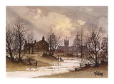 Winter Landscape Premium Giclee Print by Ron Folland